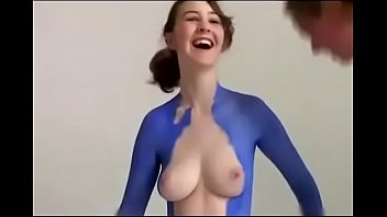 sexy girl full body painting v&uuml_cut.