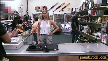 babe bent over and fucked by pawn keeper.