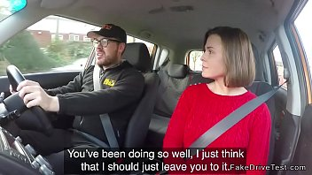 driving instructor bangs busty student in.