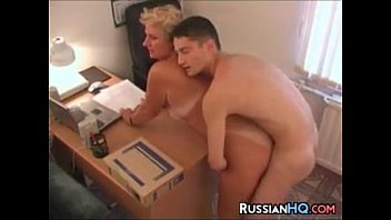 mature russian boss fucks in her.