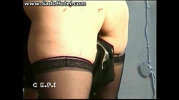 master sticks needles in ass of slave and.