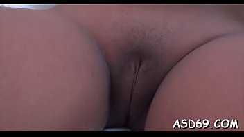 asian babe gets muff caressed