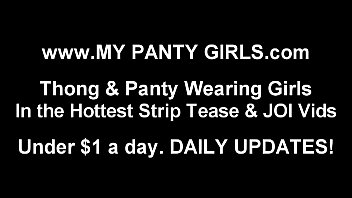 i put on a special pair of panties.