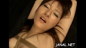 enchanting amateur japanese angels in severe anal toy.