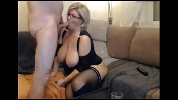 german blond milf in stockings -.