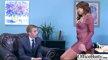office girl (cassidy banks) with big round melon.