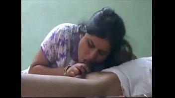 cute indian bhabhi sucking lover cock.