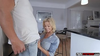 blonde milf stepmom wants a stepsons cum in.
