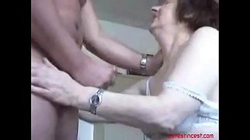 granny sucks grandsons cock dry