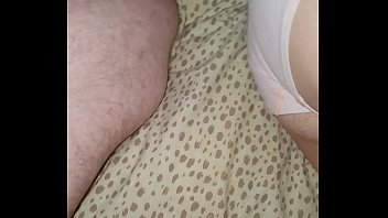 cumming on my sleeping hot milf.
