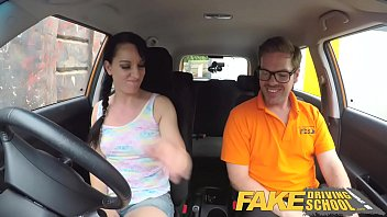 fake driving school cheating learners tight pussy filled.