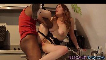 european babe rides dick