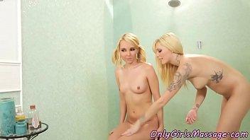 lesbian babes pussylicking during massagesex