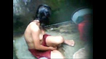 bangali young girl bath