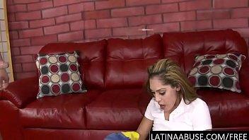 latina maid face fucked to puke