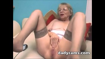 super horny mature masturbates pussy on.