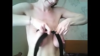 saggy  empty floppy tits bondage webcam girl 1