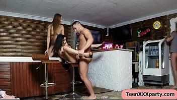out of control college dorm xxx teen party.