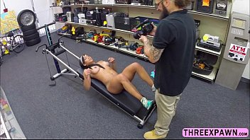 brave muscular gym trainer gives deep heads and.