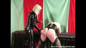femdom spanking a crossdresser