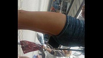 very hot ass in public