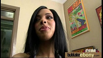 ebony girl gang banged and covered in cum 21