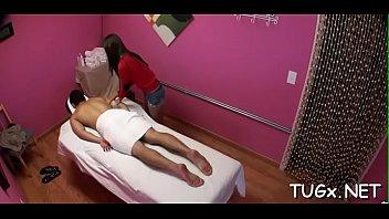 fellow receives double enjoyment from massage.