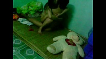 indian napali young bf gf couple in bedroom.