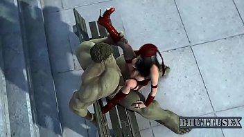 hulk smashes into electra s tight.