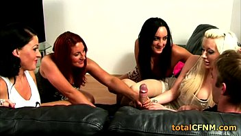 hot blonde jerks a guy&#039_s cock