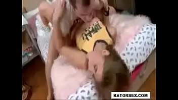 cute blonde teen gets hard anal.