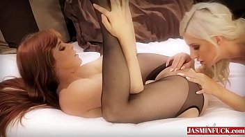 black stockings on lesbian babes-more videos.