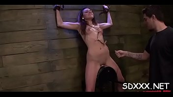 restrained slut gets huiliated as she is forced.