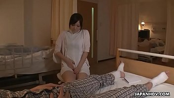 horny japanese nurse is toyed to multiple orgasms.