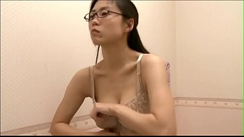 office lady trying out bra after.