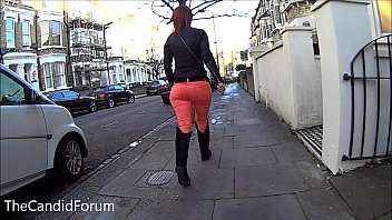 big round ass girl walking in.