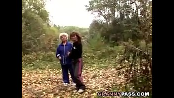 granny lesbian love in the forest