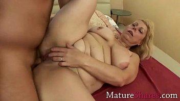 chubby mom gets her virgin ass.