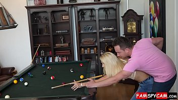 hot mom and son sex on a pool table