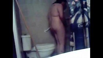 horny sister masturbates in toilet. hidden.