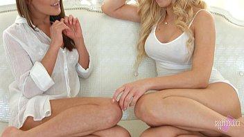 sapphicerotica sensual girls in white enjoy.