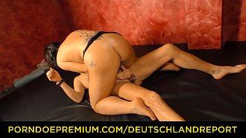 deutschland report - chubby tattooed german lady enjoys.