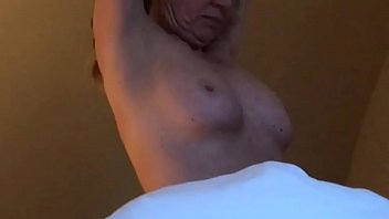 blond milf changing in bedroom, spycam