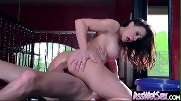 deep anal hard bang with big oiled butt.