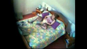 my mom caught masturbating on bed..