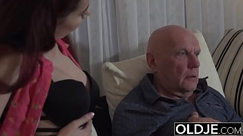 sugar daddy fucks step-daughter tight pussy goes deep.