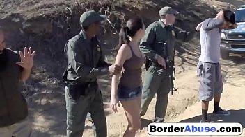 black guy in uniform dominates latina'_s.