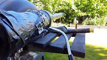 big black cannon shoots huge load