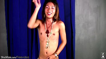 lovely asian librarian enjoys striptease and.