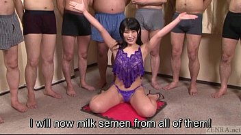 subtitled japanese gokkun swallowing party with.
